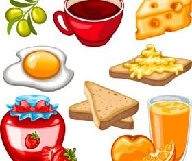 Fruit drinks food vector graphic set 03
