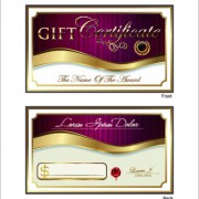 Link toGolden style gift certificate design vector 03