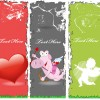 Grunge valentines banners design elements 02