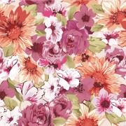 Link toHand drawn retro flower pattern vector