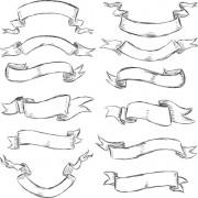 Link toHand drawn vintage ribbon benner vector 07