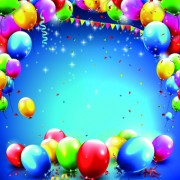 Link toHappy birthday colored balloon creative background 02