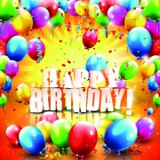 Link toHappy birthday colored balloon creative background 03