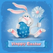 Link toHappy easter bunny background vector graphic 02