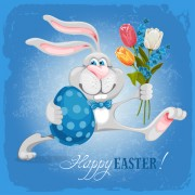 Link toHappy easter bunny background vector graphic 03