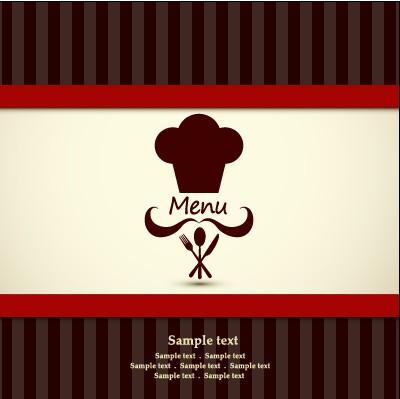 Modern Restaurant Menu Cover Design Vector 02 Vector