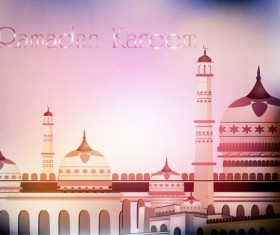 Mosque landscapes design vector set 02