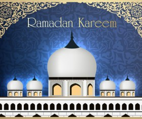 Mosque landscapes design vector set 03