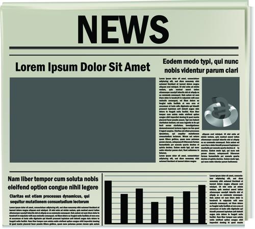 Creative newspaper design elements vector set 03 free download