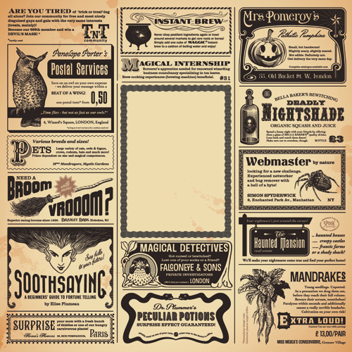 Creative newspaper design elements vector set 04 vector for Paper ad design templates