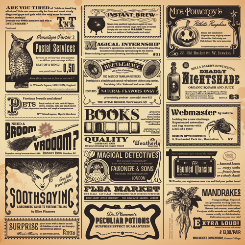 Creative Newspaper Design Elements Vector Set   Vector Other