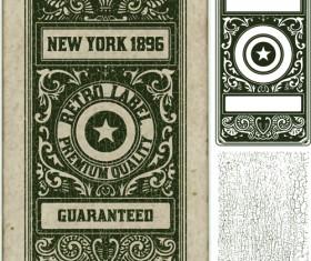 Old vintage labels vector set 01