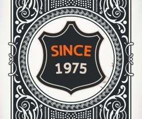 Old vintage labels vector set 02