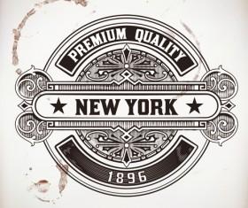 Old vintage labels vector set 03