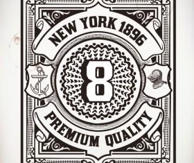 Old vintage labels vector set 04