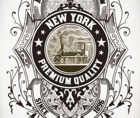 Old vintage labels vector set 05