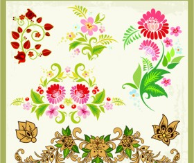 Beautiful russian style ornaments design vector 04