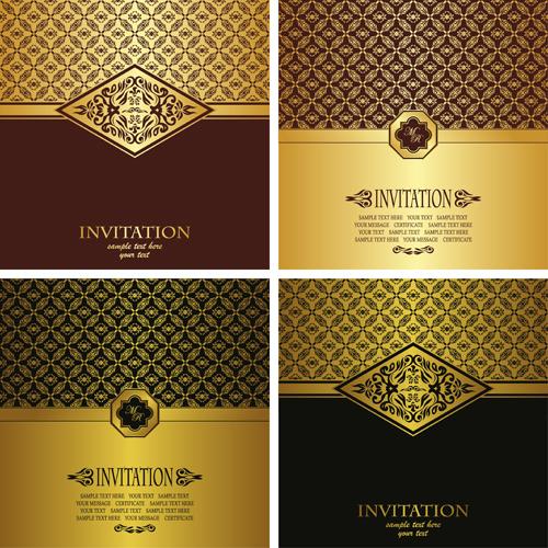 golden invitations