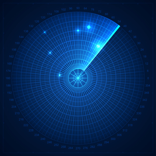 Radar elements blue background vector - Vector Background free ...