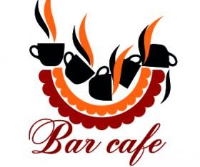 Restaurant logos design elements vectors set 01