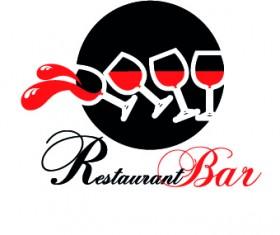 Restaurant logos design elements vectors set 03