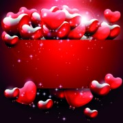 Link toShiny heart with red background vector graphic