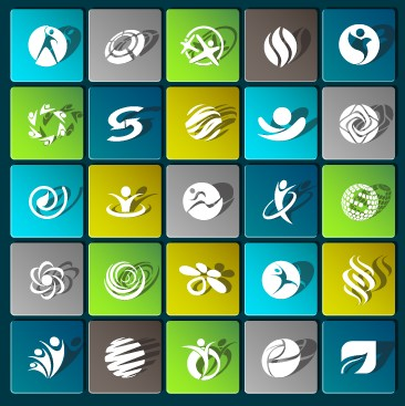 Sports paper icons vector set 01