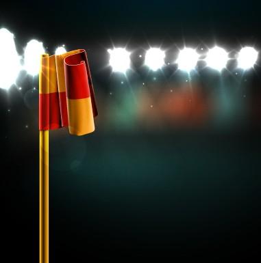 Spotlights and flag design vector