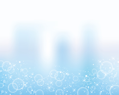 Transparent Bubbles With Background Vector 05 Vector
