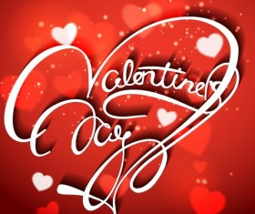 Valentine Day red style background vector 01