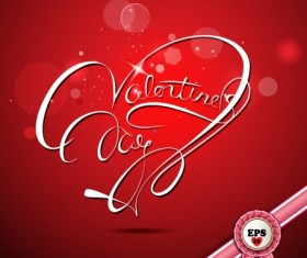 Valentine Day red style background vector 02