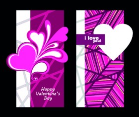 Happy Valentine Day creative banner vector 01