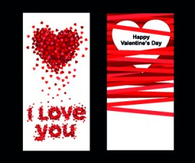Happy Valentine Day creative banner vector 02