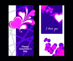 Happy Valentine Day creative banner vector 05