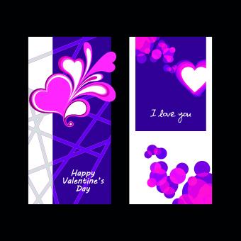 Happy Valentine Day creative banner vector 05