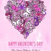 Vintage Valentine heart-shaped vector background 01