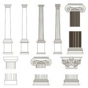 Link toVintage columns design elements vector 03