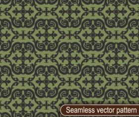 Vintage floral seamless vector pattern 01