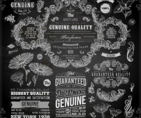 Vintage ornaments covers for labels and frame vector 03