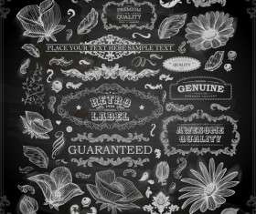 Vintage ornaments covers for labels and frame vector 04