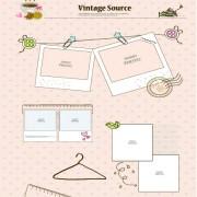 Link toVintage source elements vector 01