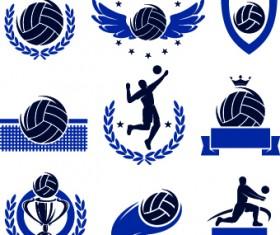Volleyball logos illustration design vector
