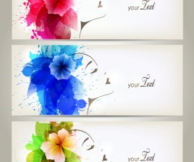 Watercolor floral woman creative design 06