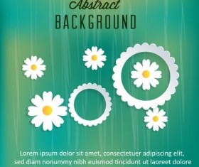 White paper flower design background graphic