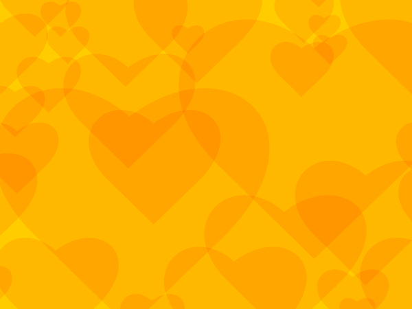 Yellow heart background vector free download
