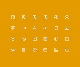 Yellow style ios7 icons psd material