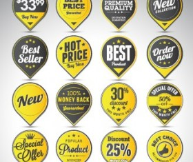 Creative sale badges design graphics 03