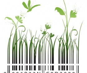 The offbeat bar codes design vector graphic 04