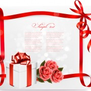 Link toBeautiful ribbon flower cards vector 01