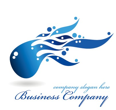 Creative blue style business logos vector set 09 - Vector Logo ...